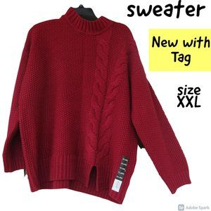 🌹$19ifbundle2 NWT simply vera rope cable sweater